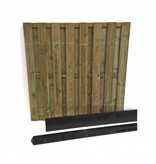 Van Gelder Hout Hout beton schutting pakket 15-planks per meter