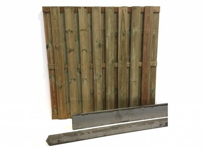 Hout beton schutting pakket grijs 17-planks