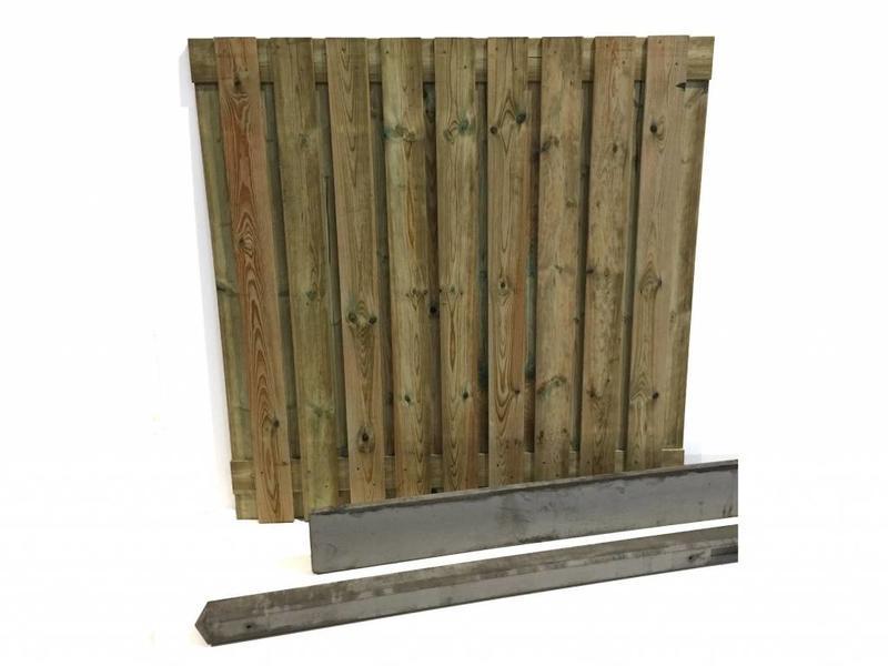 Van Gelder Hout Hout beton schutting pakket 19-planks per meter