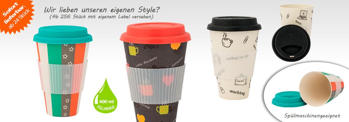 Kaffee Mehrwegbecher aus natürlichen Rohstoffen - Bambusbecher Coffee to go