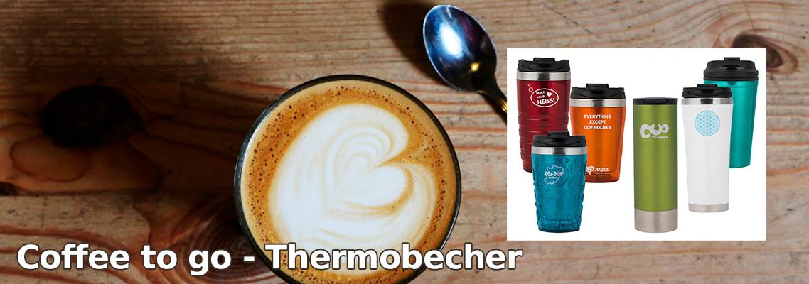 Coffee to go Thermobecher Edelstahl, Kunststoff und Porzellan