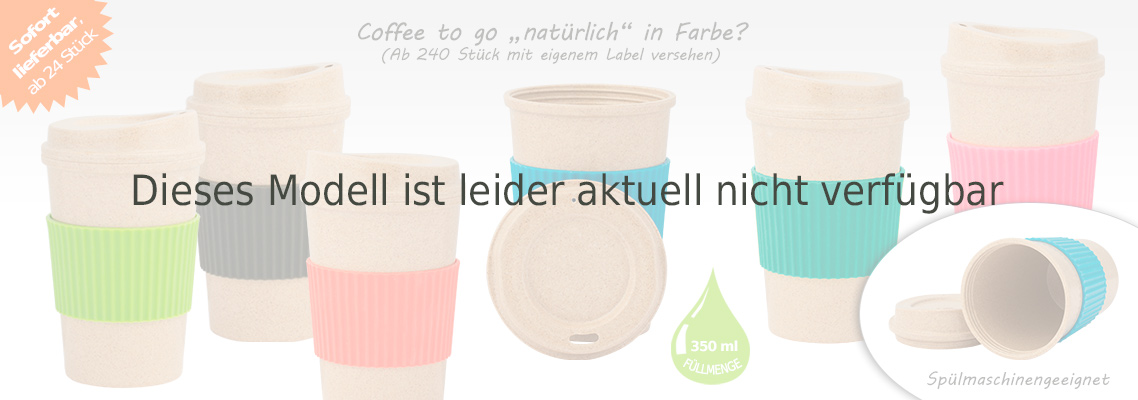 Coffee to go Bambusbecher aus natürlichen Rohstoffen - Bambus Kaffee Becher