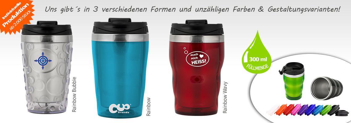 Thermobecher Coffee to go - Edelstahl - 300 ml auslaufsicher, dicht, individuell bedrucken