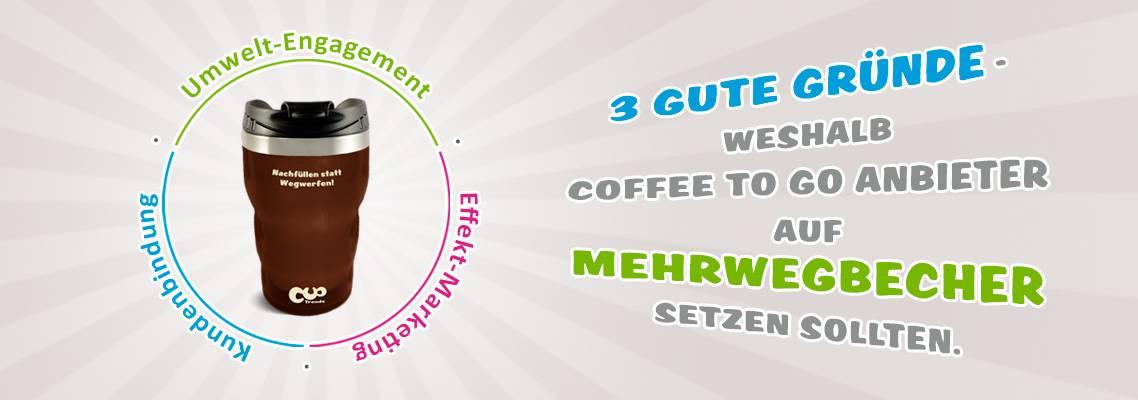 3 gute Gründe für Coffee to go-Anbieter zum Einsatz von Mehrwegbechern