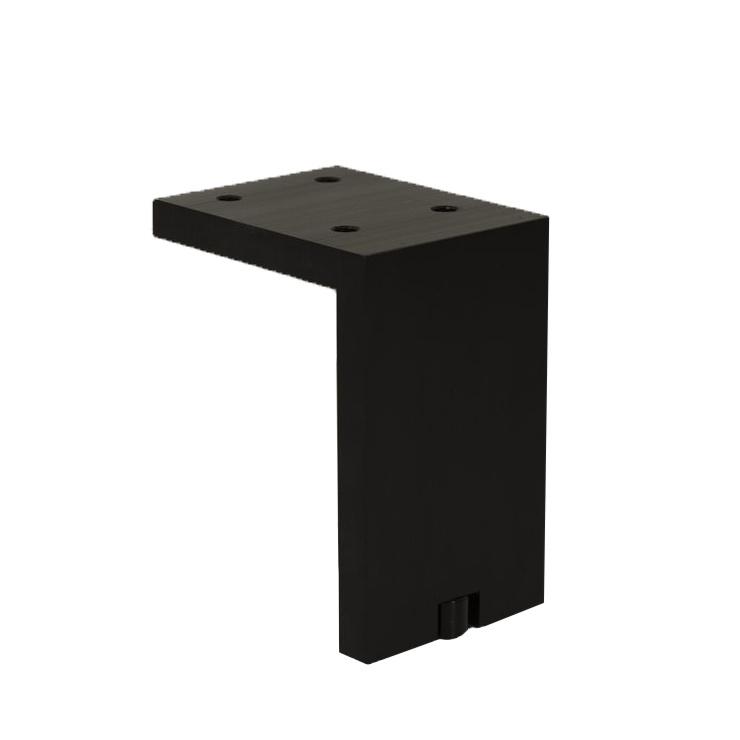 A8124.Mat zwart geborsteld