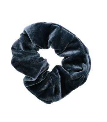 Velvet scrunchie - Grey