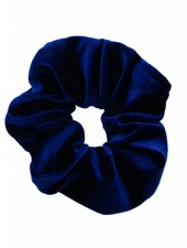 Velvet scrunchie - blue
