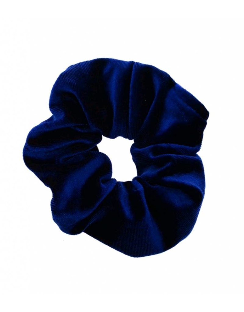 Velvet scrunchie - blue
