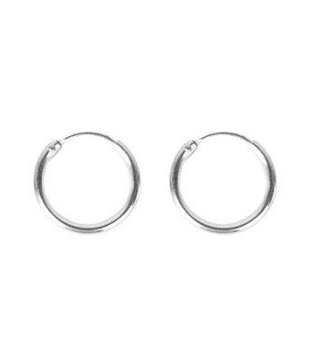 Silver hoops 10mm