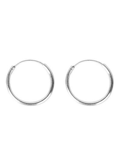 Silver hoops 12mm