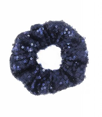 Shimmer scrunchie - Blue