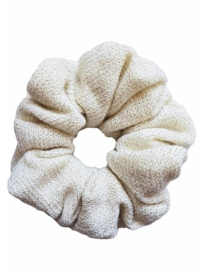 Knitted scrunchie - White