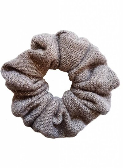 Knitted scrunchie - Taupe