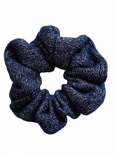 Knitted scrunchie - Blue