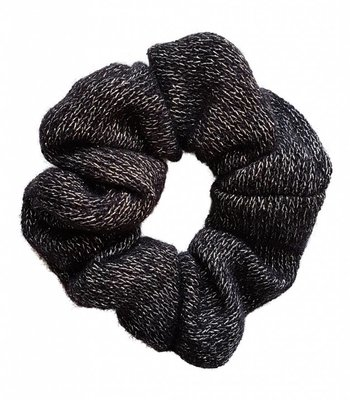 Knitted scrunchie - Black