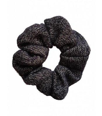 Knitted scrunchie - Black
