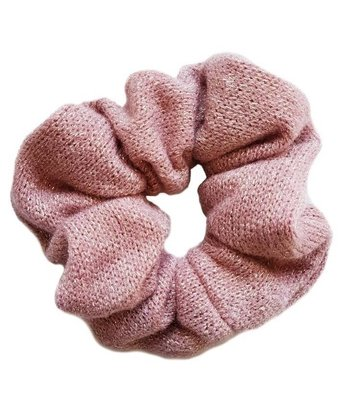 Knitted scrunchie - Pink