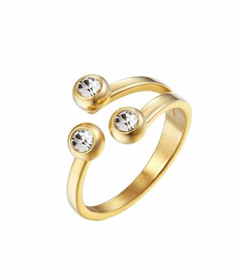 Diamond dots ring gold