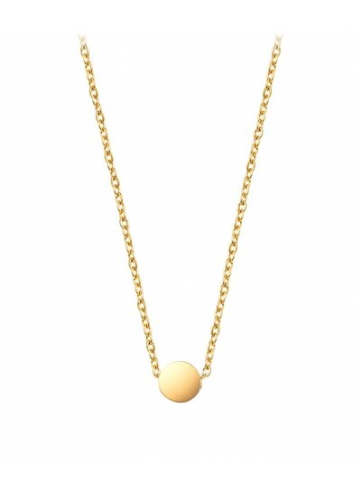 Small disc necklace gold