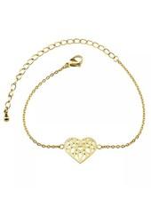 Geometric heart bracelet gold