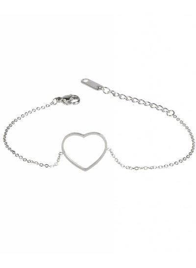 Heart bracelet silver