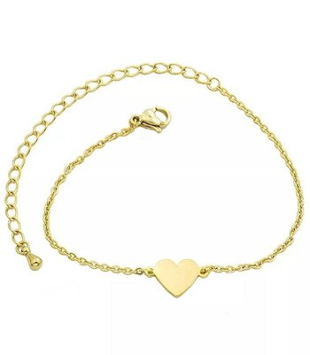Small heart bracelet gold