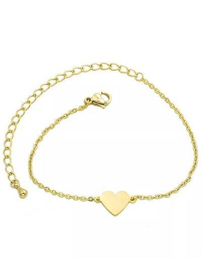 Small heart bracelet gold