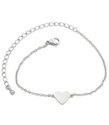 Small heart bracelet silver