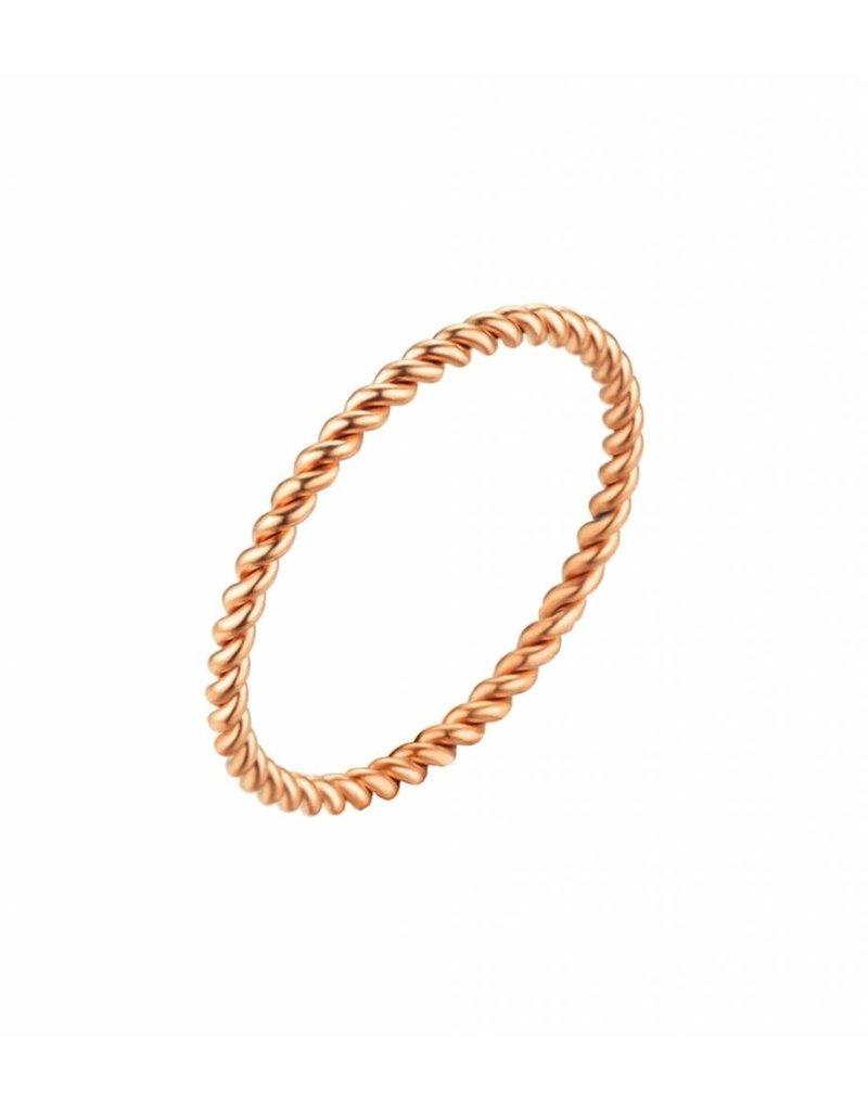 Twisted ring stem - rose