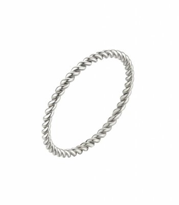 Twisted ring stem - silver