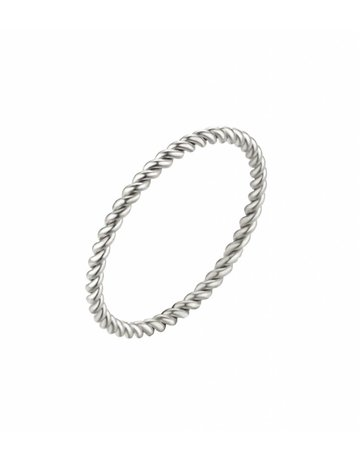 Twisted ring steel - silver