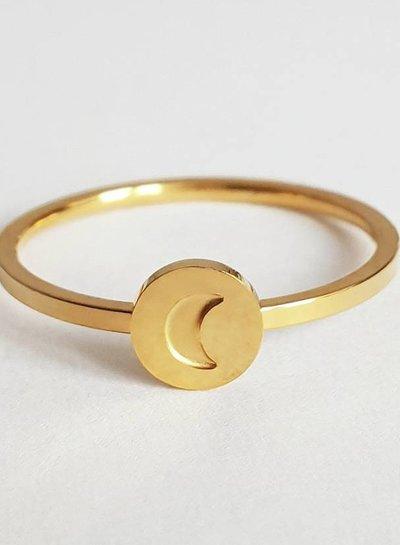 Moon ring 2.0 gold