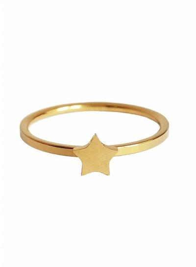 Star ring gold