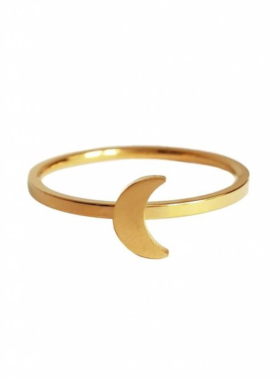 Moon ring gold