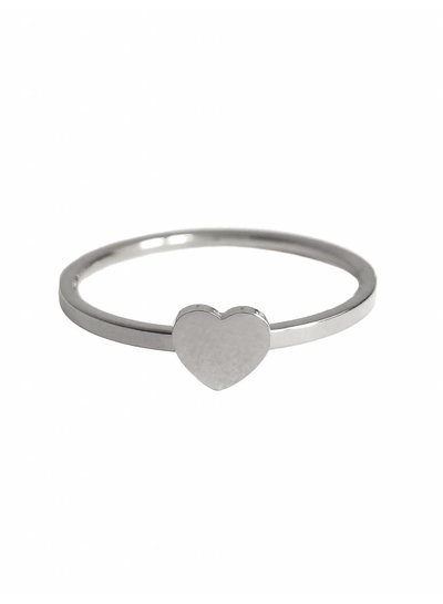 Heart ring silver