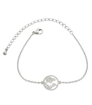 Earth bracelet silver