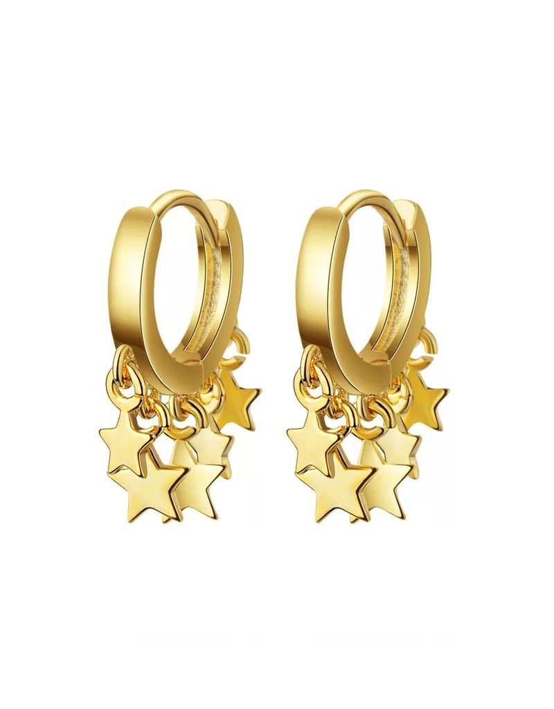 Falling stars gold