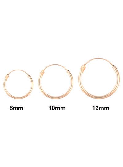 Golden hoops 8mm