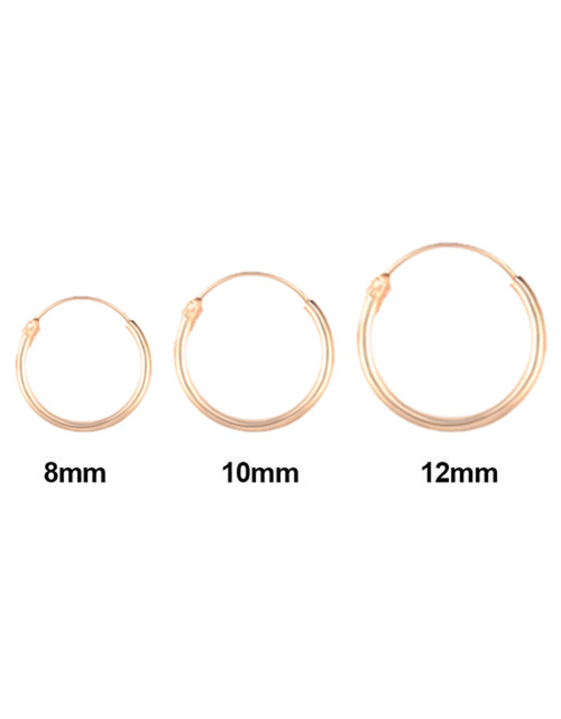Golden hoops 8mm