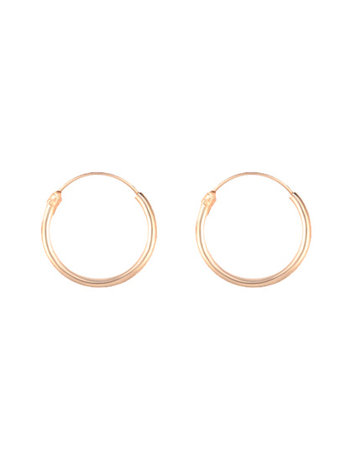 Golden hoops 10mm