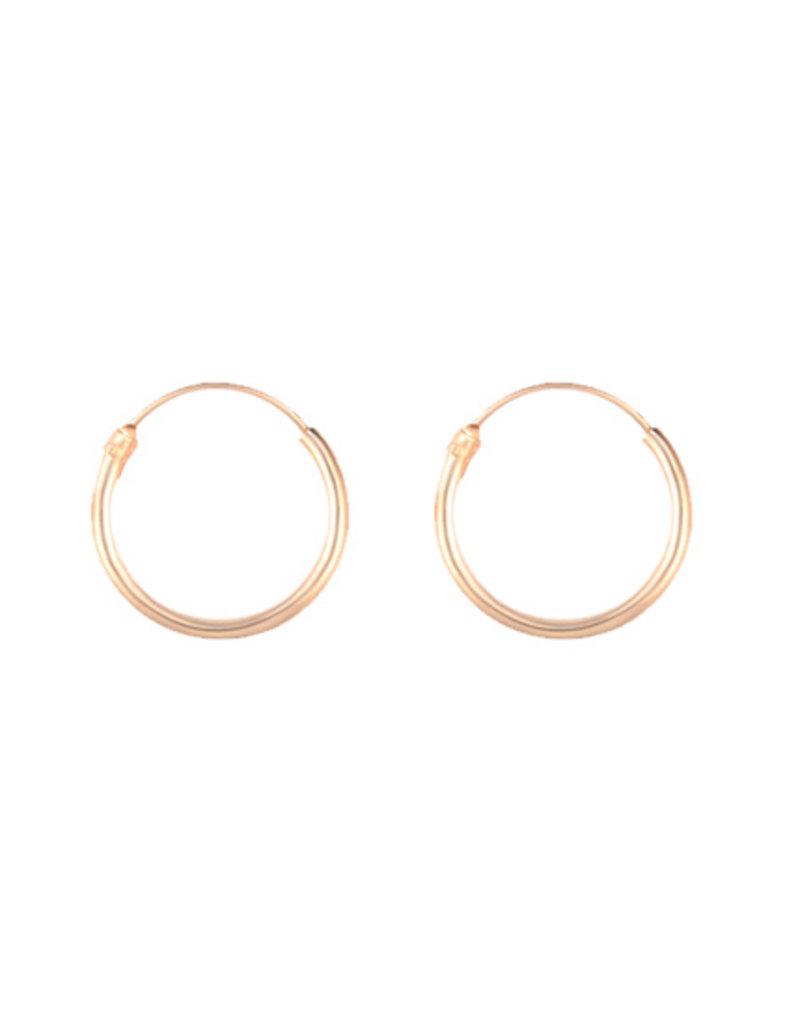 Golden hoops 10mm