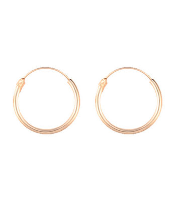Golden hoops 12mm