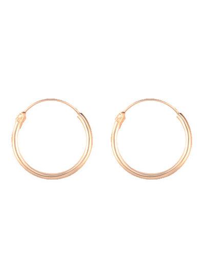 Golden hoops 12mm
