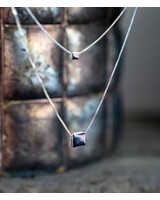 Two Cubes Necklace Silver