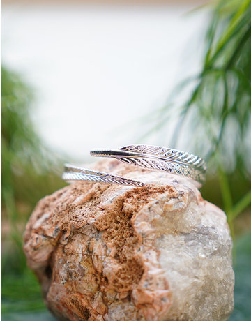 Wrapped Feather Bangle