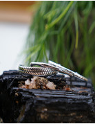 Indian Cane Bangle Silver