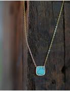 Marbre Bleu Necklace in Gold