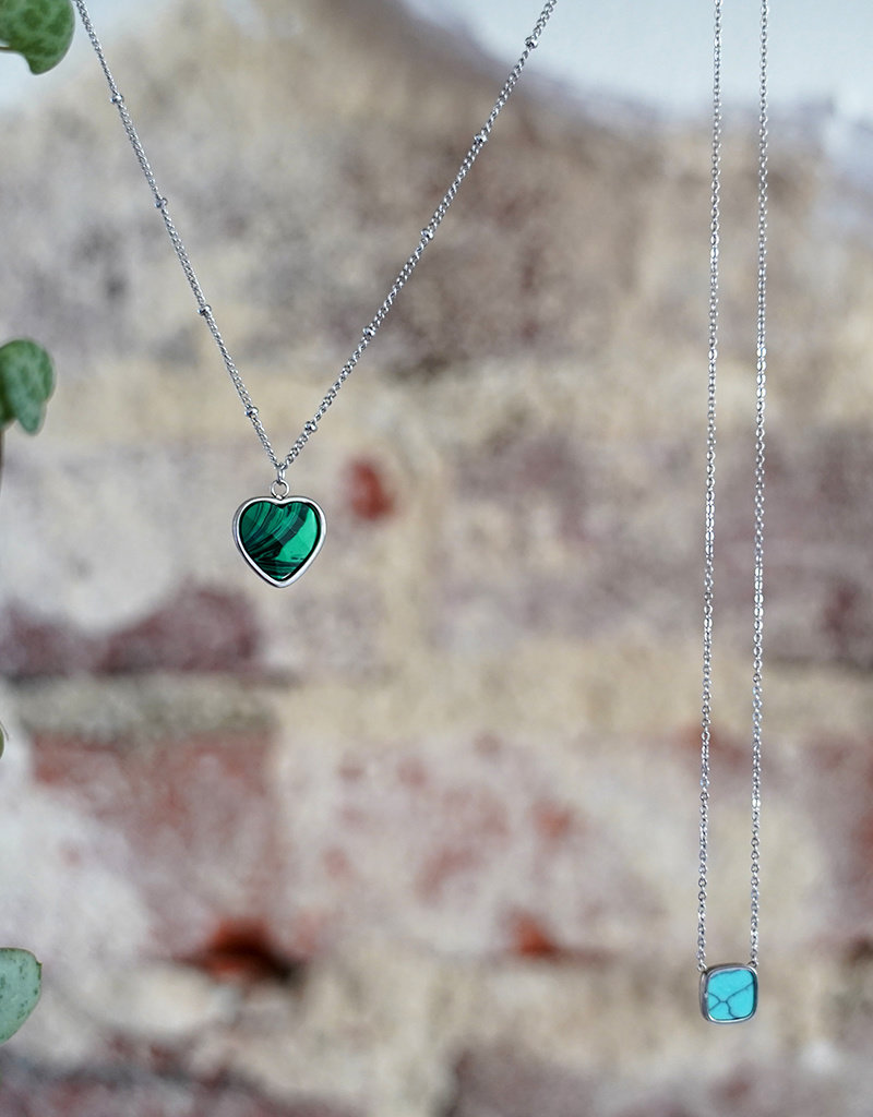 Heart Of ... Malachite Silver