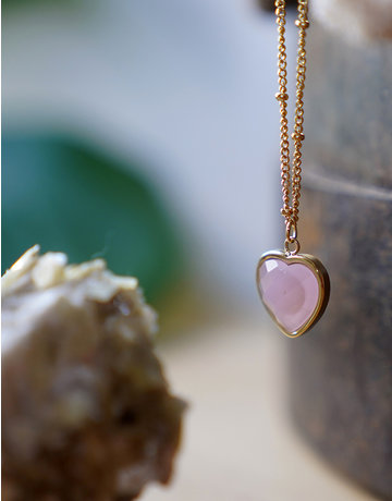 Heart Of ... Rose Quartz Gold