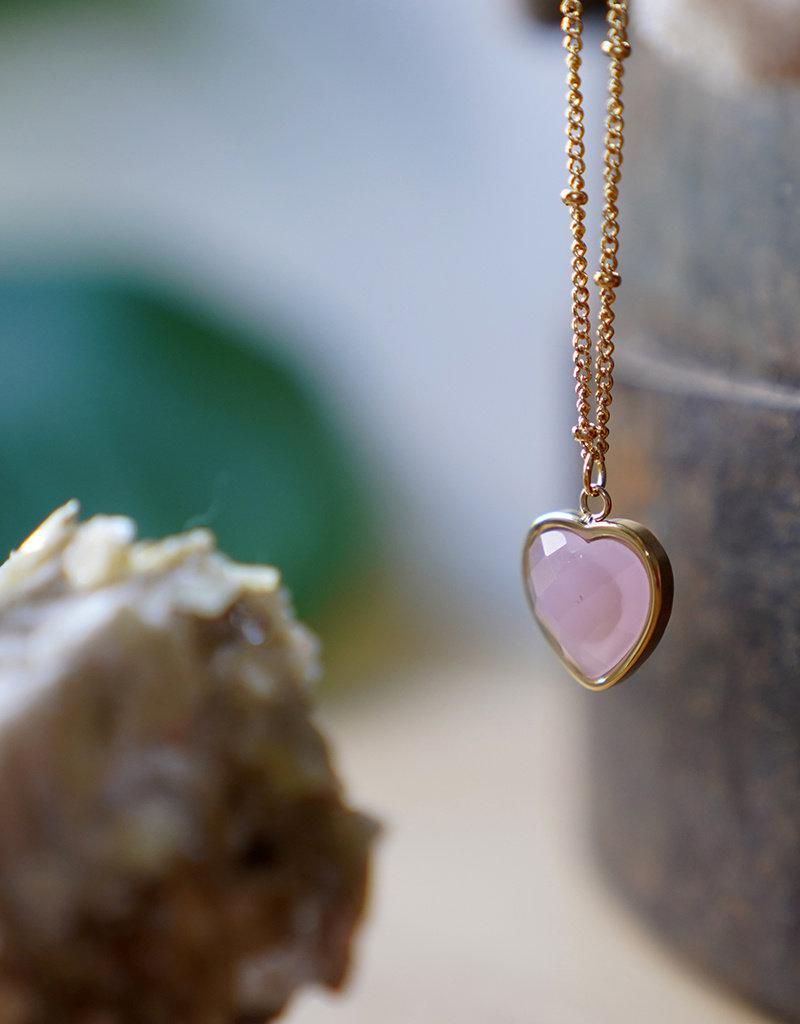 Heart Of ... Rose Quartz Gold